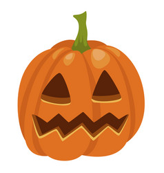 halloween pumpkin icon traditional orange cute vector image