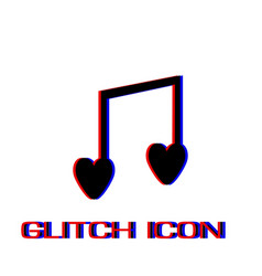 I love music icon flat vector
