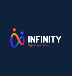 Infinity people logo and symbols vector