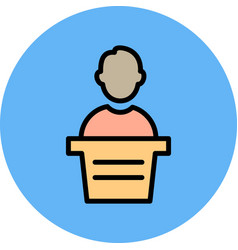 Lecturer icon vector