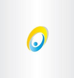 letter o man icon design vector image