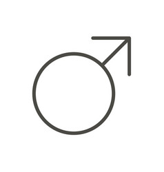 male gender icon line man sex symbol isola vector image