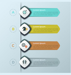 Modern infographic design template with 4 separate vector