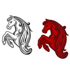 Mustang mascot vector