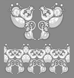 Necklace embroidery print for fashion design vector