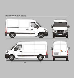 Nissan nv400 cargo delivery van l2h2 2015 vector