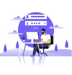 Online registration concept vector