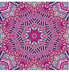 oriental flourish colorful mandala vector image