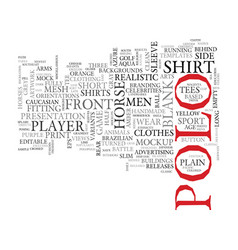 Polo word cloud concept vector