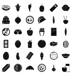 Power value icons set simple style vector