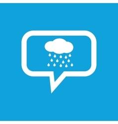 Rain message icon vector