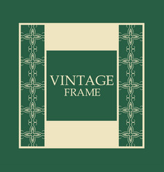 retro ornamental frame vector image