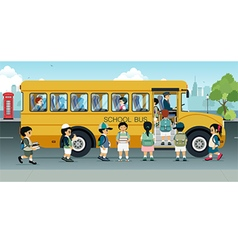 school bus vector image