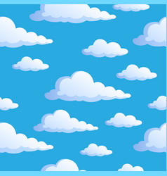 Seamless background with clouds 1 vector