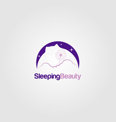 Sleeping beauty dream logo sign symbol icon vector