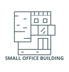 small office building line icon linear vector image