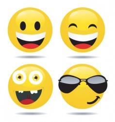 smiley set3 vector image