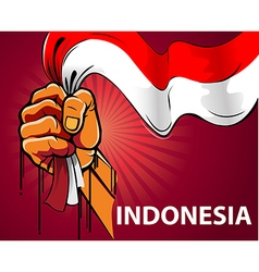Spirit of Indonesia vector image