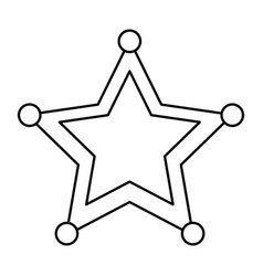 star sheriff police insignia authority icon vector image