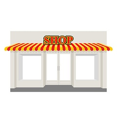 Store showcase Facade of shop building Storefront vector image