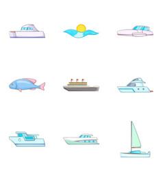 Surface icons set cartoon style vector