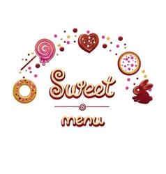 Sweet menu vector