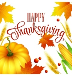 Thanksgiving autumn card vector image