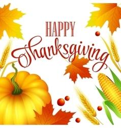 thanksgiving autumn card vector image