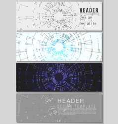 the minimalistic layout of headers banner vector image