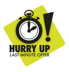 Timer countdown last minute offer hurry up vector