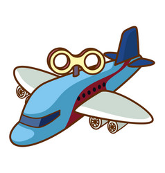 Toy airplane on white background vector