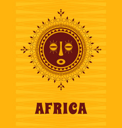 tribal ethnic decorative african mask vector image
