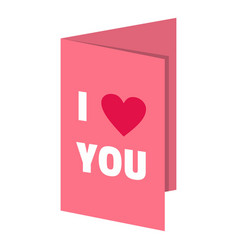 Valentines day card icon isolated vector