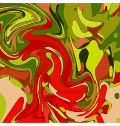 Watercolor Green Red Background vector image
