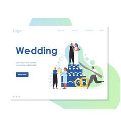 Wedding website landing page design vector