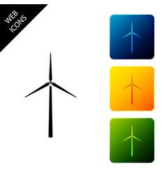 Wind turbine icon isolated wind generator sign vector