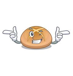 Wink the hot cross buns character homemade vector