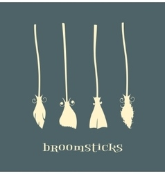 Witch broomstick vector