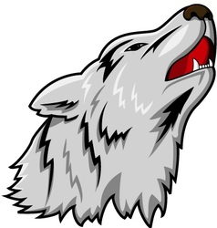wolf head vector image