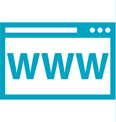 business networking web page icon vector image