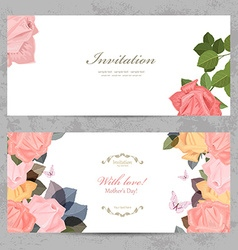 fashion collection greeting cards with blossom of vector image vector image