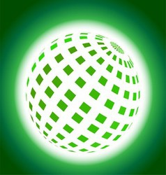 Green Planet Icon on Blue Background vector image vector image
