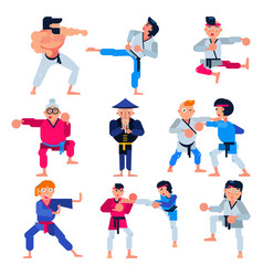 karate martial karate-do character training vector image
