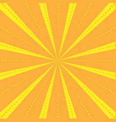 rays striped with dots pattern with light burst vector image