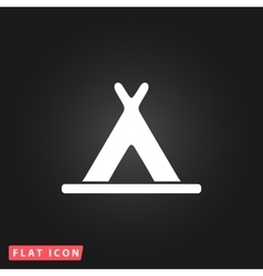 wigwam flat icon vector image vector image