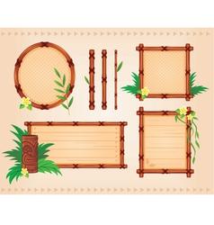 bamboo frames set vector image vector image