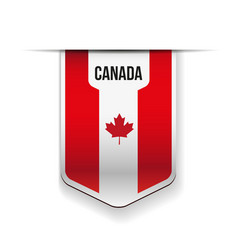 Canada flag ribbon vector image