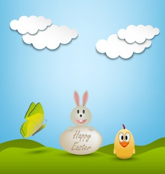 Easter greeting card with animals vector image vector image