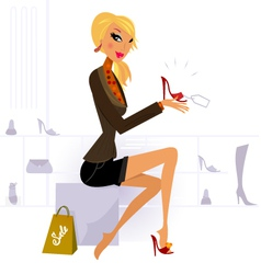 fashion shopping vector image vector image