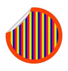 rainbow stripes sticker vector image
